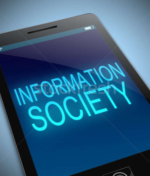 Information society concept. Stock photo © 72soul