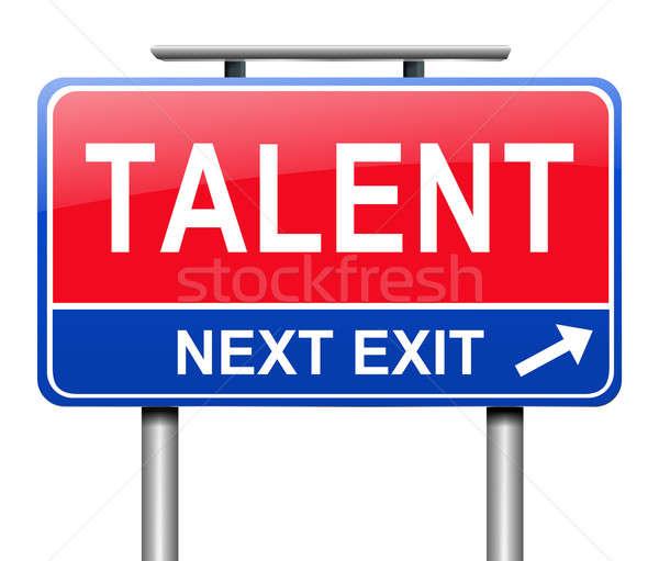 Talent illustration signe cadeau graphique panneau routier Photo stock © 72soul