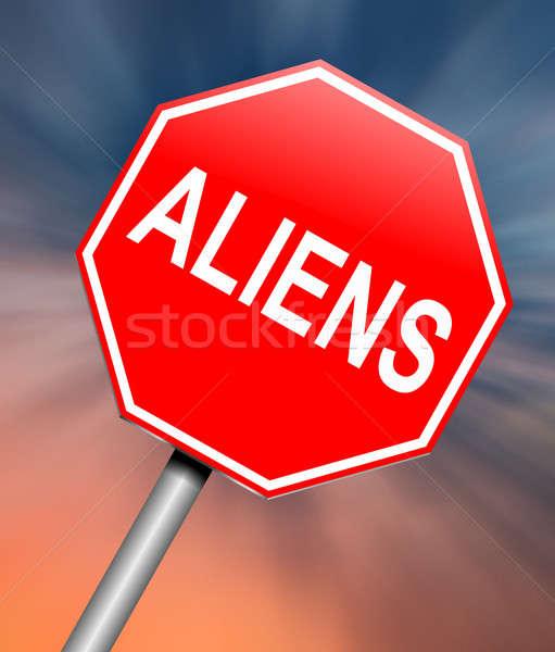 Aliens sign concept. Stock photo © 72soul