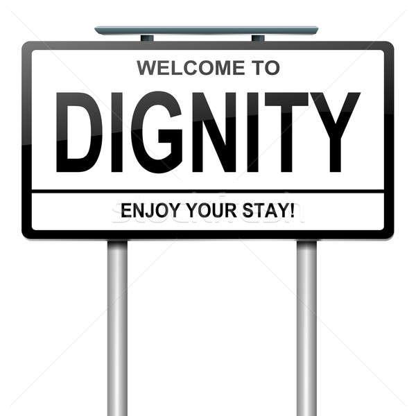 Dignidade ilustração branco assinar conceito Foto stock © 72soul