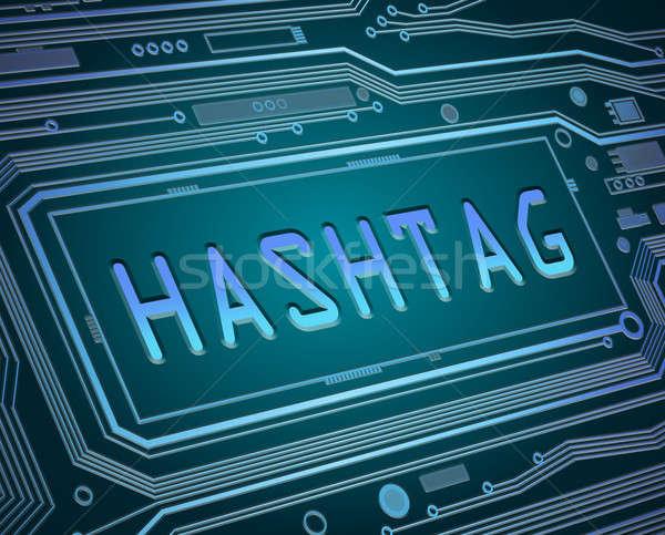 Hashtag concept. Stock photo © 72soul