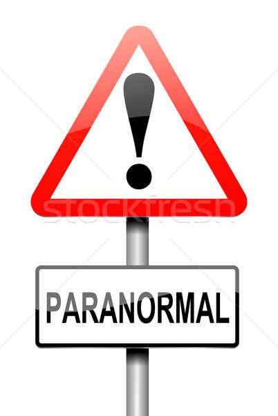 паранормальный иллюстрация знак графических магия Ghost Сток-фото © 72soul