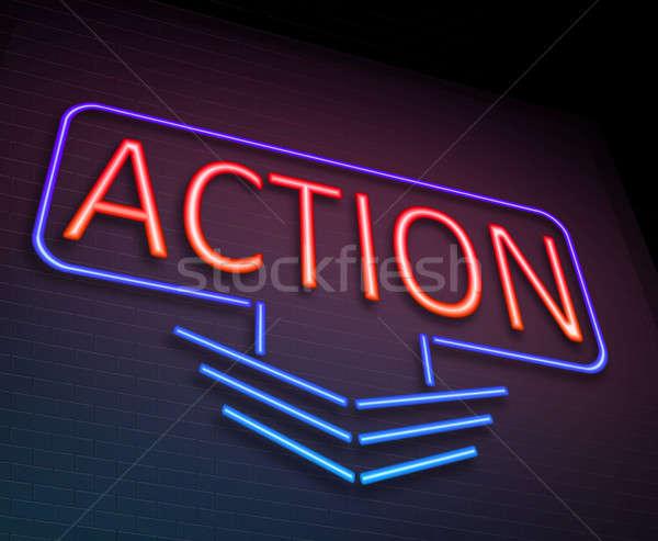 Action neon concept. Stock photo © 72soul