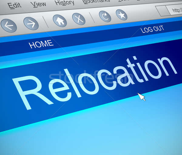Relocation information concept. Stock photo © 72soul