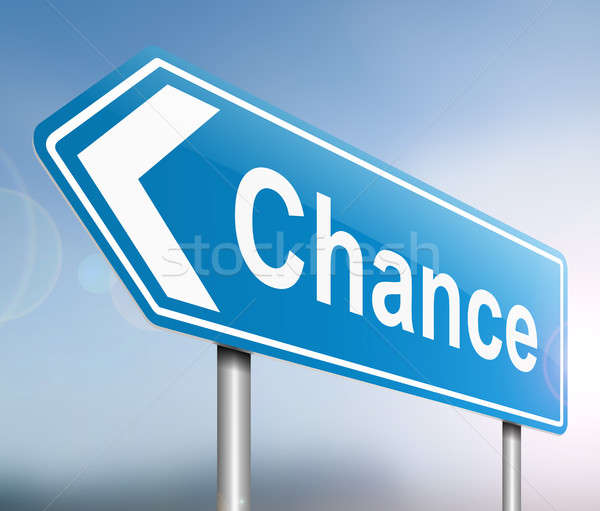 Chance sign concept. Stock photo © 72soul