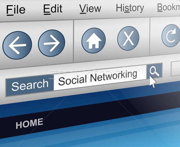 социальной сетей иллюстрация экране компьютера выстрел поиск Сток-фото © 72soul