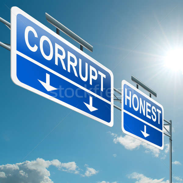 Corrupt or honest. Stock photo © 72soul