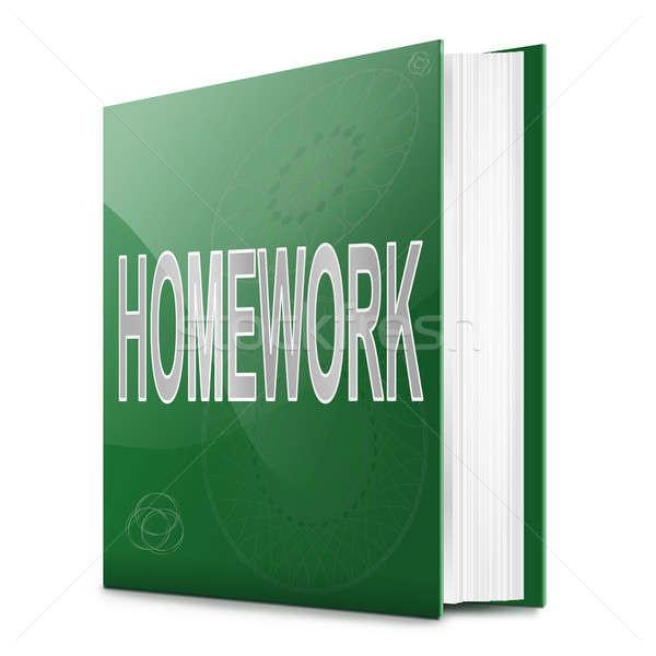 домашнее задание книга иллюстрация название белый школы Сток-фото © 72soul