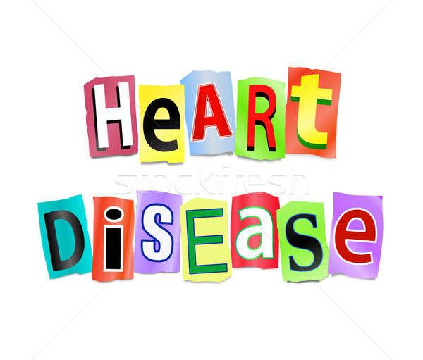Hartziekte illustratie afgedrukt brieven vorm Stockfoto © 72soul