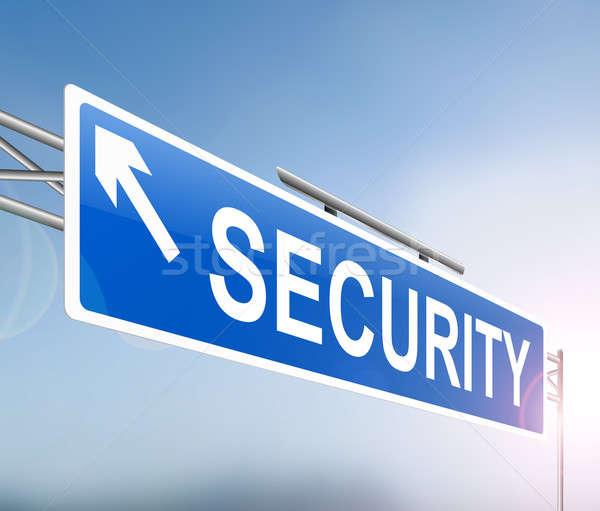 безопасности знак иллюстрация синий графических ухода Сток-фото © 72soul