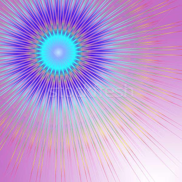 Geometrica abstract illustrazione colorato linee pallido Foto d'archivio © 72soul