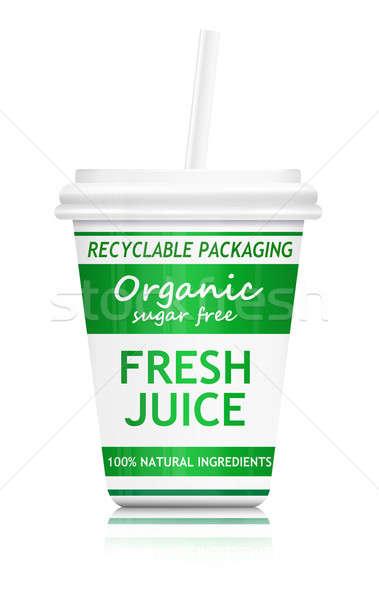 Gezonde milieu illustratie fast food drinken container Stockfoto © 72soul