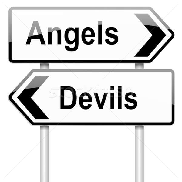 Angel or devil concept. Stock photo © 72soul