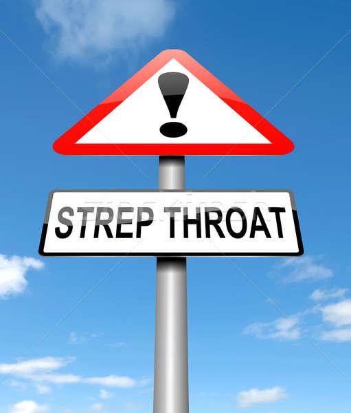 Strep Throat concept. Stock photo © 72soul
