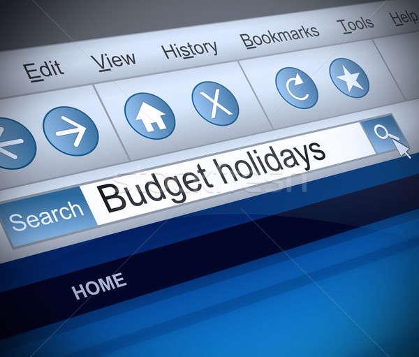 Stok fotoğraf: Bütçe · tatil · örnek · ekran · atış · Internet