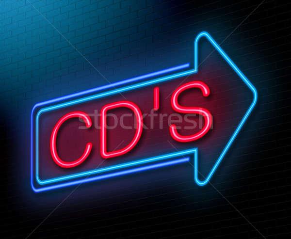 Disco compacto ilustração cd música Foto stock © 72soul