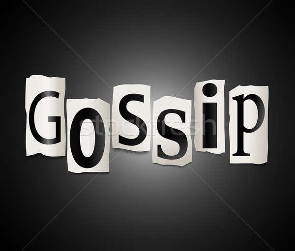 Gossip concept. Stock photo © 72soul