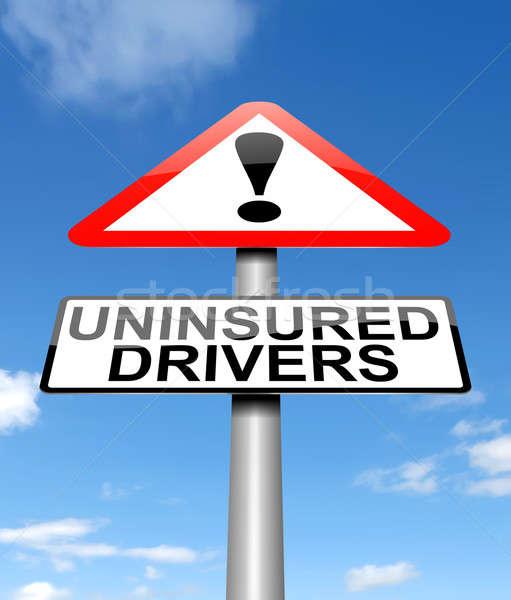 Illustratie teken grafische verzekering ongeval verkeersbord Stockfoto © 72soul