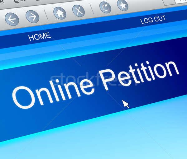 On-line petição ilustração tela do computador capturar tela Foto stock © 72soul