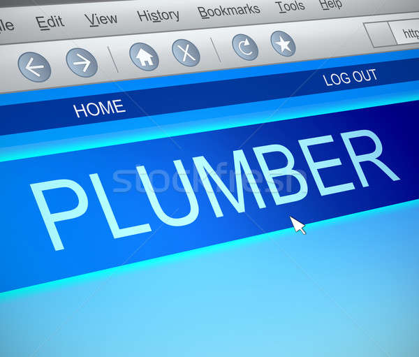 Plumber online concept. Stock photo © 72soul