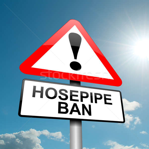 Hose pipe ban warning. Stock photo © 72soul