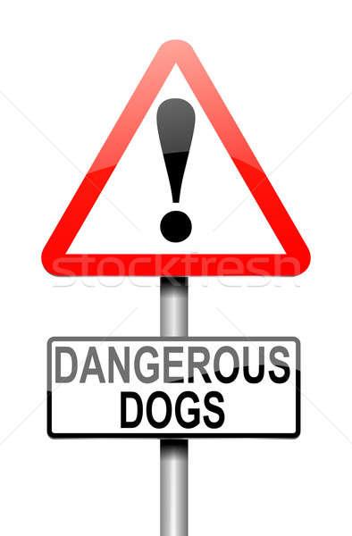 Peligroso perros ilustración signo fondo seguridad Foto stock © 72soul