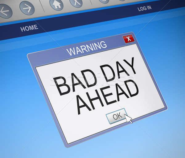 Kötü gün örnek bilgisayar ekranı ele geçirmek kutu Stok fotoğraf © 72soul