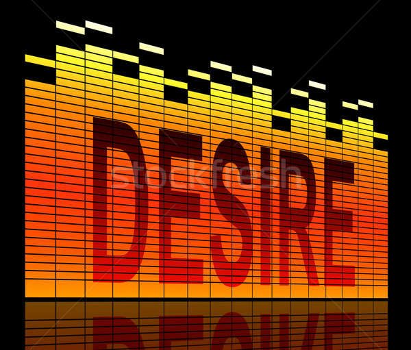 Verlangen illustratie grafische equalizer technologie oranje Stockfoto © 72soul