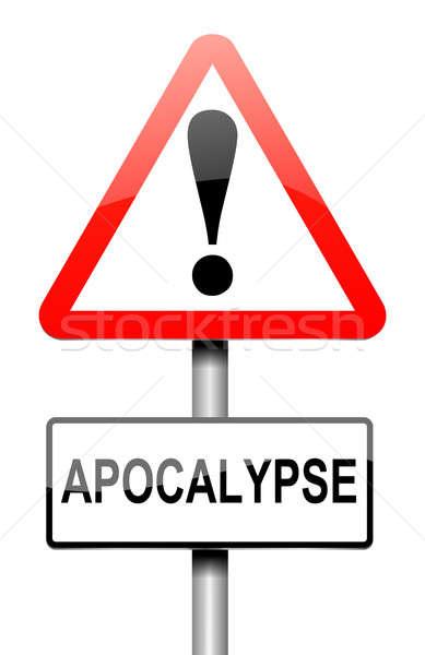Apocalipsis signo ilustración gráfico evento concepto Foto stock © 72soul