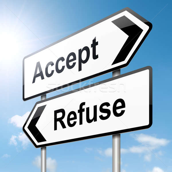 Accept or refuse concept.  Stock photo © 72soul