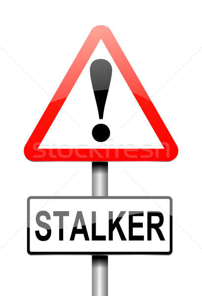 Stalker warning concept. Stock photo © 72soul