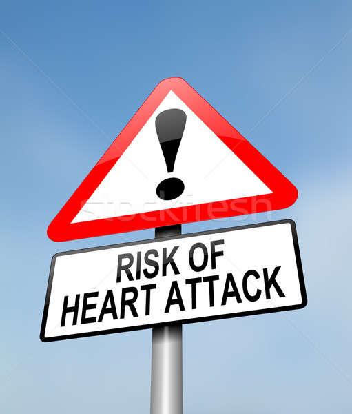 Heart attack risk. Stock photo © 72soul