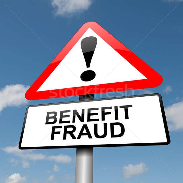 Beneficiar fraude ilustração estrada sinaleiro blue sky Foto stock © 72soul