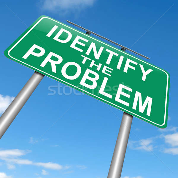 Identify the problem. Stock photo © 72soul