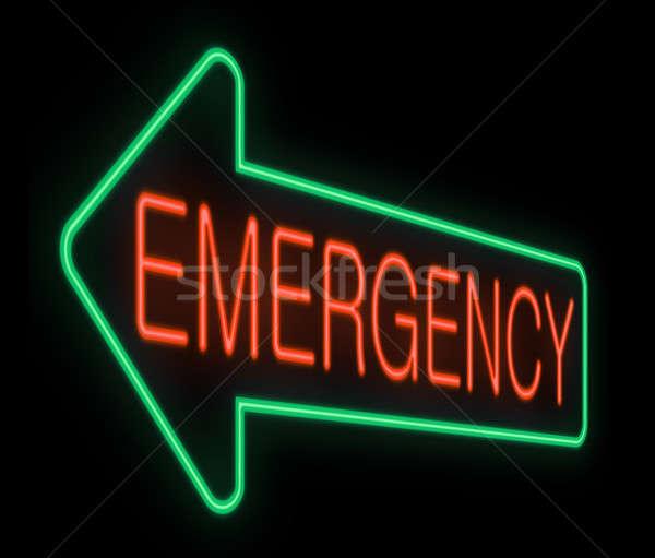 Stock photo: Emergency sign.