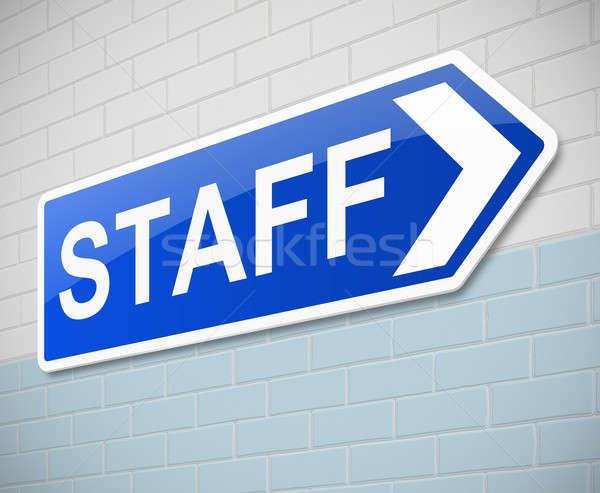 Staff sign. Stock photo © 72soul