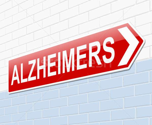 Alzheimer illusztráció felirat orvosi kórház piros Stock fotó © 72soul