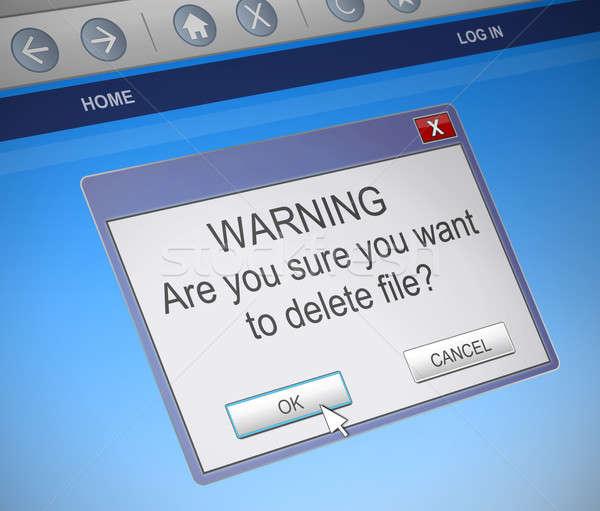 Deleting file concept. Stock photo © 72soul
