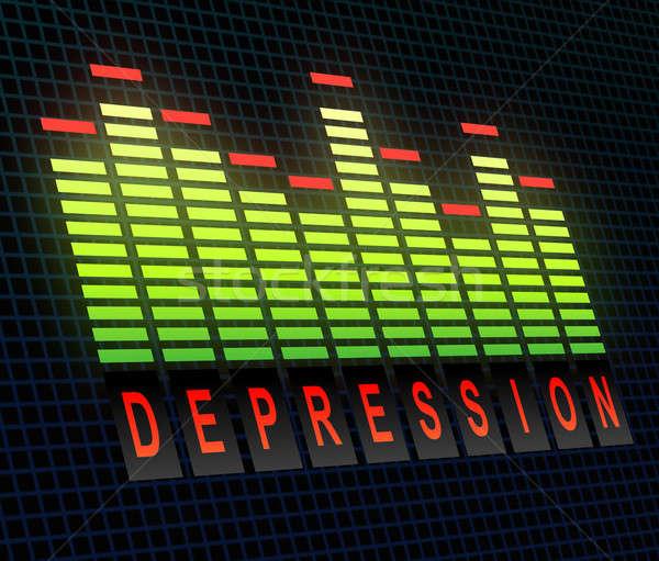 Depressie illustratie grafische equalizer technologie stress Stockfoto © 72soul
