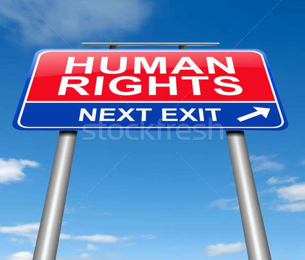 Insan hakları örnek imzalamak grafik yol işareti özgürlük Stok fotoğraf © 72soul