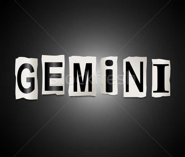 Gemini word concept. Stock photo © 72soul