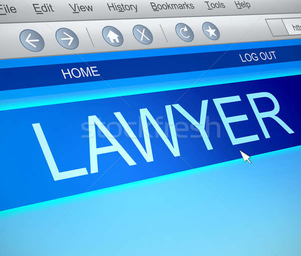 Lawyer online concept. Stock photo © 72soul