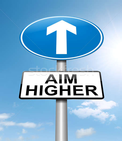 Aim higher concept. Stock photo © 72soul