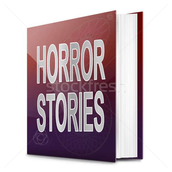 Horror ilustración libro título blanco fondo Foto stock © 72soul