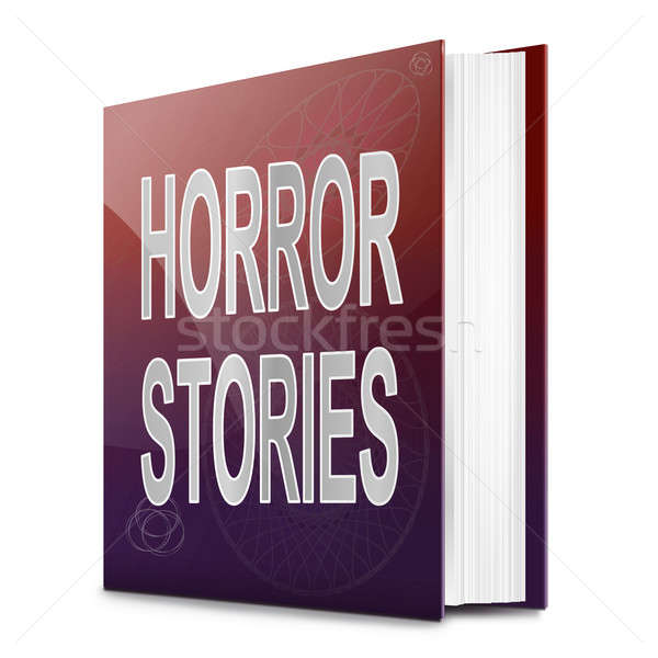 Horror ilustração livro título branco fundo Foto stock © 72soul