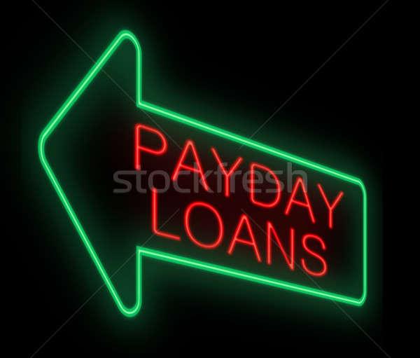 Betaaldag illustratie neonreclame achtergrond helpen cash Stockfoto © 72soul