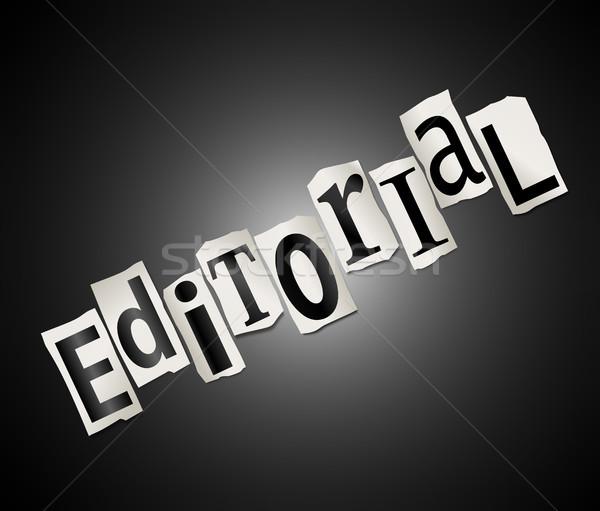 Editorial concept. Stock photo © 72soul