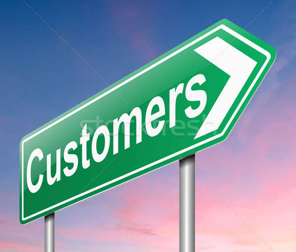 Customers concept. Stock photo © 72soul