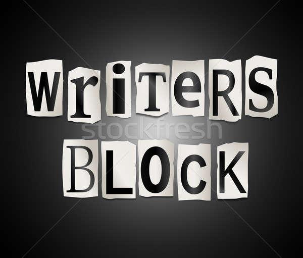Writers block. Stock photo © 72soul