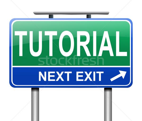 Tutorial ilustração assinar educação ajudar treinamento Foto stock © 72soul